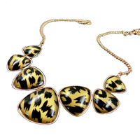 2014 New Crystal Jewelry Collar No Minorder Leopard Print Gem Pendant Chain Necklace Necklaces & Pendants for Women Wholesales