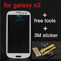 replacement WHITE for samsung galaxy s3 glass lcd touch screen digitizer front lens i9300 1 piece free shipping +sticker+tools