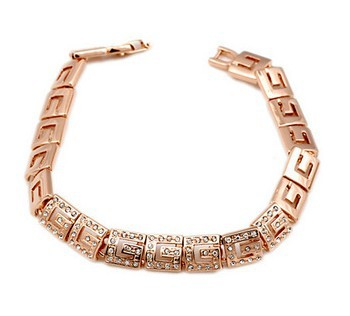 ZYH018  18K Rose Gold Plated Bracelet Jewelry Made with Genuine Austrian Crystal CZ Wholesale