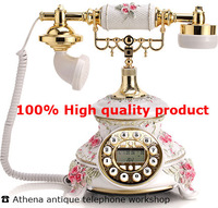 Resin Old Fashioned Telefon / Creative Retro House Phones with Caller Id / Antique Desk Phone for Home or Office