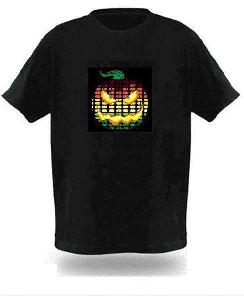 1pcs EL LED Tshirt Sound Activated Electro Luminescent Flashing T Shirt light Free shipping(China (Mainland))