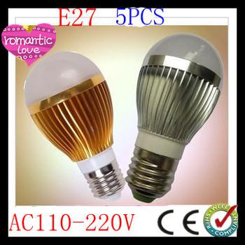 Free shipping 5pcs/lot Dimmable Bubble Ball Bulb AC110-230v 9W 12W 15W E14 E27 B22 GU10 High power Globe light LED Light