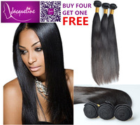 "queen hair products brazilian same size silky straight unprocessed 8""-32""extension natural black color 3pcs lots free shipping"