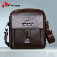 Hot Sale Free Shipping Casual Men's Genuine Leather Messenger Bags Cowhide Handbag Shoulder Bag For Men Black Brown 3Size NO1342
