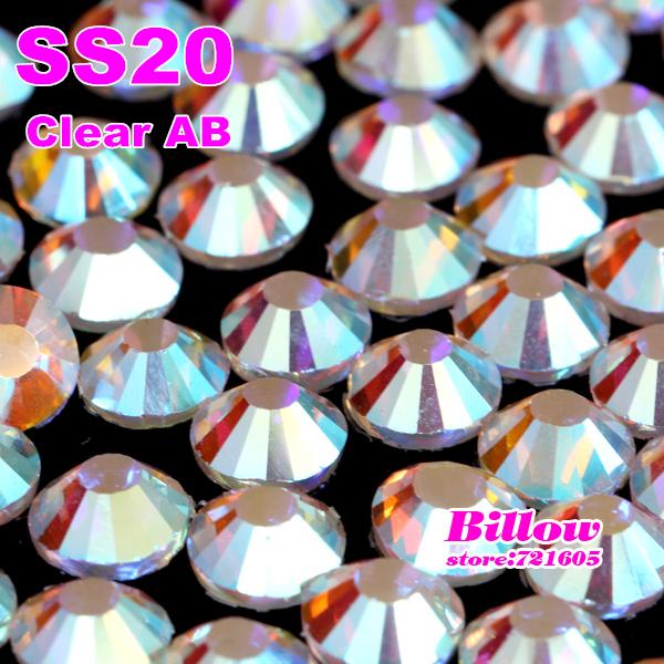 Hot sale!1440pcs/lot SS20 DMC crystal AB iron-on hotfix rhinestones with glue, flatback hotfix crystal stones for clothing(China (Mainland))