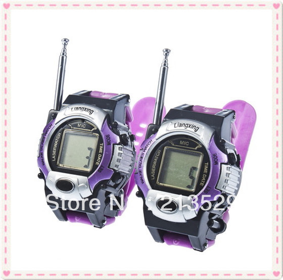 TWO WAY RADIO KIDS WALKIE TALKIE WRISTLINX 2 WRIST WATCH TOY 007 without packaging box Free Shipping(China (Mainland))