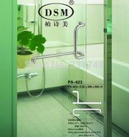 Polished Bathroom Glass Door Pull Handle DSM PA-623-25*300*500mm For Shower Room