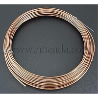Aluminum Wire,  Bisque,  about 1.5mm in diameter,  10m/roll