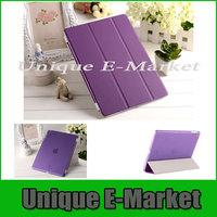 1 Pair/lot 1 PC PU Leather Magnetic Smart Cover +1 PC Crystle Hard Back Case For iPad Mini/ iPad Mini Retina Multi-Color