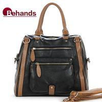 2014 Real Cowhide Leather Handbags Designer Shoulder Bags Women Satchels Motorcycle Bag BH1009+Free Shipping