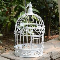 White Trefoil round bird cages iron birdcages wedding