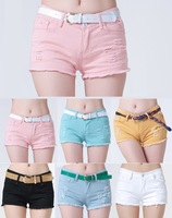 Clearance new 2014 hot selling fashion jeans shorts women jeans pants cotton hole vintage sexy girls jeans shorts big size