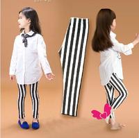 vertical stripe girls leggings pants, kids girls summer autumn trousers,Children pants calsas for 3-8-year-old baby leggings