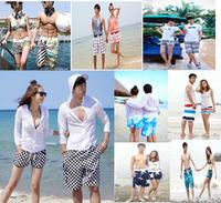 Wholesale Promotion Flower Stripe Plaid Lover Beach Board Shorts loose Elastic Holiday Summer Cool Swimwear