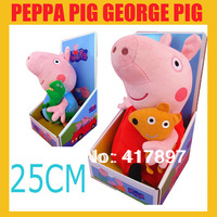 2PCS/SET Peppa Pig Toys 25CM George Pig With Dinasour 25CM Peppa Pig Plush Baby Toys Stuffed Gift Doll