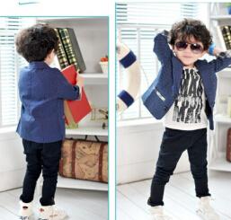 fashion three quarter sleeve boy plaid blazer boys spring-summer coat boys autumn clothes children clothing