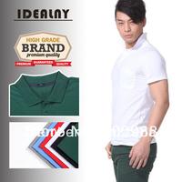 2014 New S/J Cotton 2051 Fashion Collar neck Short Sleeve Men's T-shirt 6 Colors-CN Free Shipping