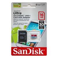 SanDisk Ultra microSHDC, mcroSDXC, microSD Card Class 10 UHS-U1 + Adapter Retail Pack
