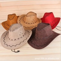 Free shipping 2014 Summer Spring sun Hat cowboy hat men and women outdoor cap Retail/Whloeslle fashion cool