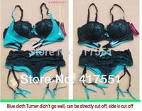 Hot Lace women bra set 75b 75c 80b Sexy Lady bra+panties sexy lingerie Garter Belt Set,Free shipping