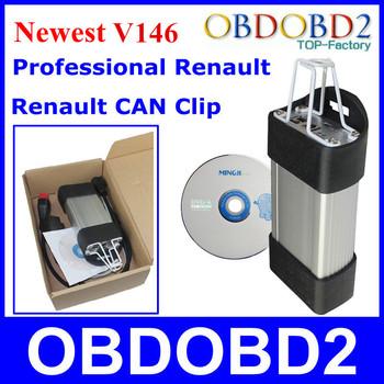 Super Renault CAN Clip V145 Diagnostic Tool Supports Renault Vehicles Multi-Language Renault Scanner DHL Free