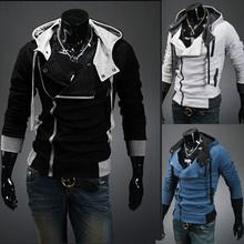 hombres llegada nuevo invierno& otoño chaqueta con capucha, cremallera marca de moda los abrigos, ajuste fino, más tamaño,