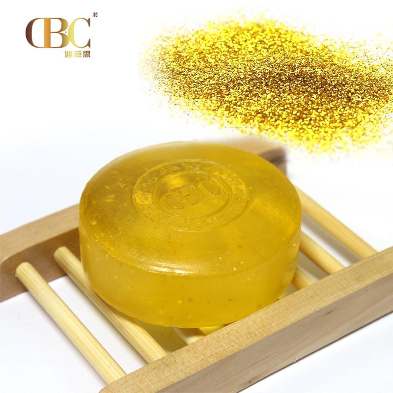 5pcs/lote) 24k de oro de jabón con aceite esencial para cuidado de ...