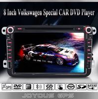 VW POLO/Jetta/Skoda/Amark/Caddy/Skoda/Golf Doble DIN Auto DVD Player+GPS Navigation+FM/AM Raio+BT+AUX+Steering Wheel Control