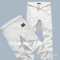 Hot!Designer Jeans Men Fashion Famous Brand 2013 Newly Arrival White Color Straight Leg Low Waist Cotton Denim Trousers Man #708