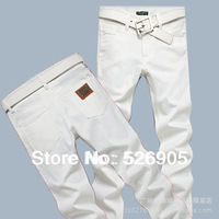 Hot!Designer Jeans Men Fashion Famous Brand 2013 Newly Arrival White Color Straight Leg Low Waist Cotton Denim Trousers Man #708