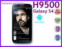 Free shipping New arrival original 1:1 Galaxy i9500 i9505 H9500 MTK6589 s4 phone Quad Core 1.2Ghz Android 4.2 1280x720 RAM 1GB