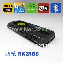 UG007B Quad Core MINI pc with Android 4.4.2 Kitkat RK3188 RAM 2GB ROM 8GB Bluetooth HDMI WIFI Smart TV Box dongle Full HD 1080P(China (Mainland))