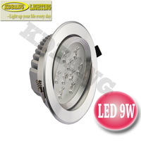 NEW!! 4 pcs/lot 9W AC220V white/warm white LED Ceiling spotlightsLED Downlights acrylic conjoined lens
