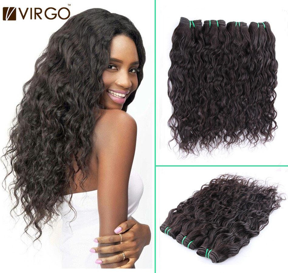 "Water Wave/Curly Hair 10""-28"" Brazilian Human Hair Weaves Water Wave"