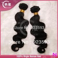 100% Brazilian Human Hair Bundles Virgin Brazilian Body Wave Hair 2 pcs/lot