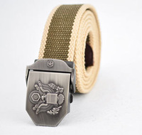 Hot sale thicken canvas strong buckle military belt Army tactical belt Top quality men strap 16 colors free shipping AB005