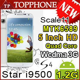 Free shipping Star S4 I9500 I9502 MTK6589 Scale 1 1:1 Quad core Android 4.2 5 INCH PHONE 3G mtk 6589 N9500 Free shipping Hebrew