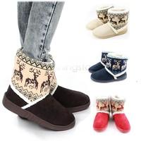 Women's Animal Prints Warm Cotton Thicken Snow Platform Boots Shoes Winter Boots B19 18389