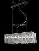 Free shipping L650*W200*H150mm 8-lights rectangle design crystal chandelier luster dining room/bar lighting