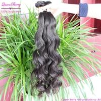 Queen berry unprocessed milky way virgin brazilian  ocean tropic she hair extension  mixed 3pcs natural black deep wave