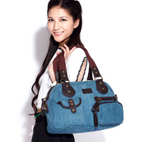 women's canvas handbags casual tote shoulder bag candy colors satchel bag free shipping