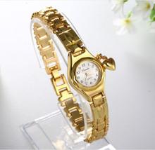 Fashion Women Dress Watches Women Royal Gold Dial Bracelet Quartz Watch luxury Stainless Steel Watches Hour relogio feminino(China (Mainland))