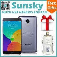 Original Meizu MX4 MTK6595 Octa Core Cell Phone Android 4.4 5.36inch 1080P Screen 2GB 16GB 2MP 20MP Camera 3G GPS OTG Gyroscope