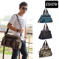 Eshow large messenger bag men canvas laptop bag men travel bags military messenger bags BFK008901