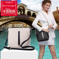 Coraldaisy  New  2013   Fashion Satchel Women Messenger Bags Cowhide Shoulder Bag Contract Color Bags