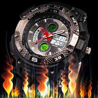 2014 Freeshipping Mens Sport Watch Dive Week Alarm Digital LCD Quartz  Men's Military Wristwatch Waterproof Men Male relogio