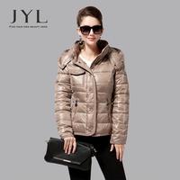 JYL 2014 Winter Fashion stylish down jackets with hood,short slim fit light women down and parka 2014 women's winter jacket