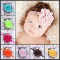 Baby Headband girls headwear Girls Floral Topknot Hairbands Infant Headband Newborn toddler hair band hair accessories