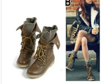 Free shipping 2013 Hot Sale Winter sexy motorcycle martin platform snow boots with for women lacing
