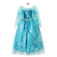 Free shipping!2014 Movie Cosplay Costume Princess Elsa Dress of Frozen for Children frozen dress Ana Dress kids party clothes